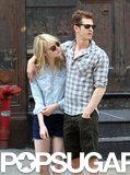 Andrew Garfield put his arm around Emma Stone.