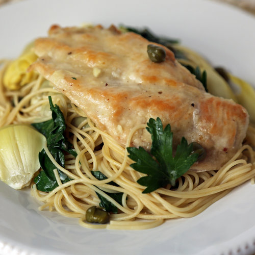 Chicken, Artichokes, and Angel Hair Recipe
