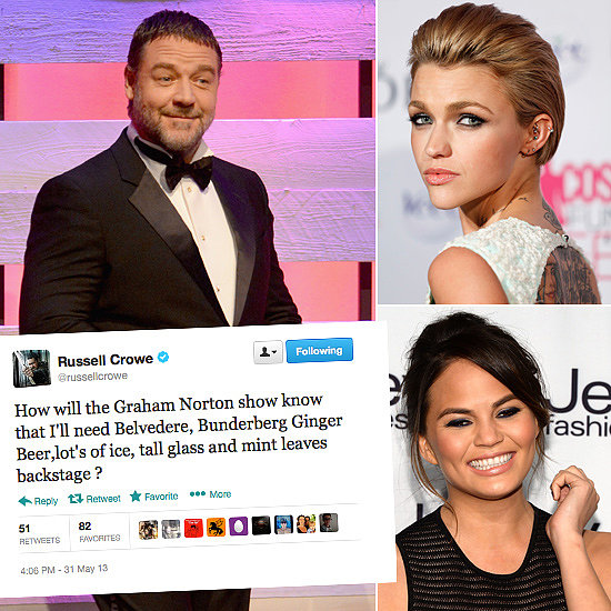 Tweets of the Week: Russell Crowe, Ruby Rose, Chrissy Teigen & More!