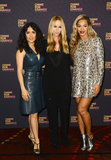 Salma Hayek, Gucci's Frida Giannini, and a Gucci-clad Beyoncé presented a united glamour front while smiling for the cameras.