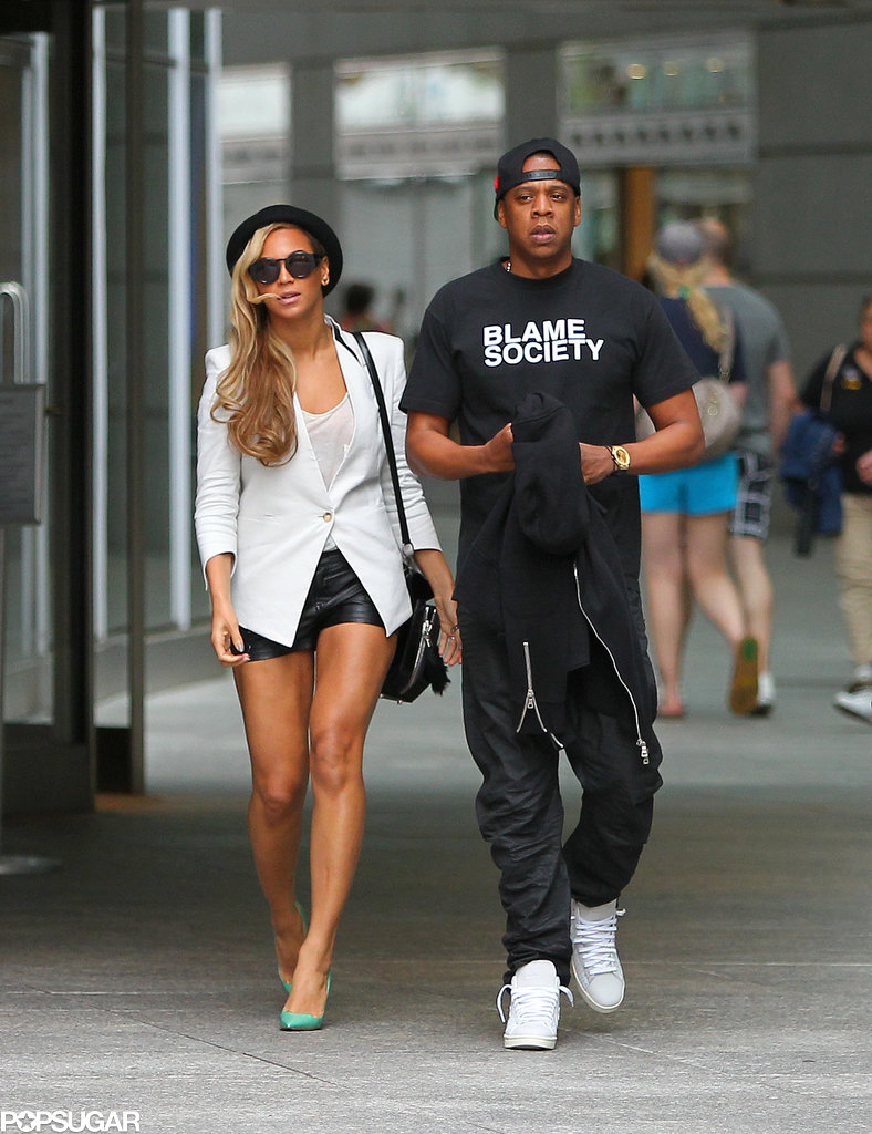 Beyonce Knowles and Jay-Z went on a movie date in NYC.