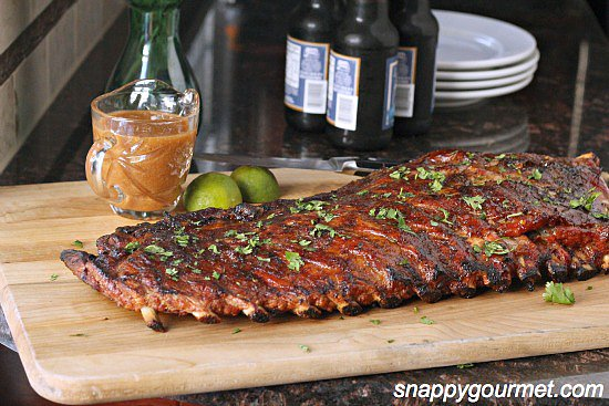 Tropical Pineapple and Honey Barbecue Ribs