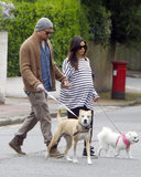Channing Tatum and Jenna Dewan walked around London in May as they awaited the arrival of their first child.