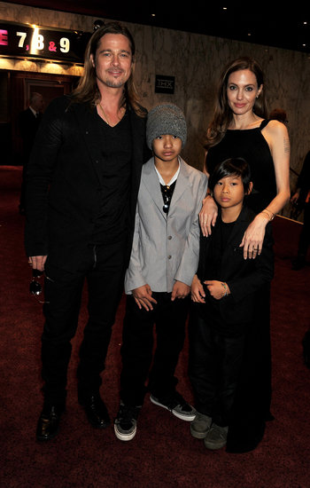 Brad Pitt and Angelina Jolie walked the red carpet with Maddox and Pax at the World War Z London premiere.
