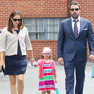Jennifer Garner and Ben Affleck Take the Girls to a Museum