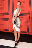 Candice Swanepoel wore black and white to the CFDA Fashion Awards.