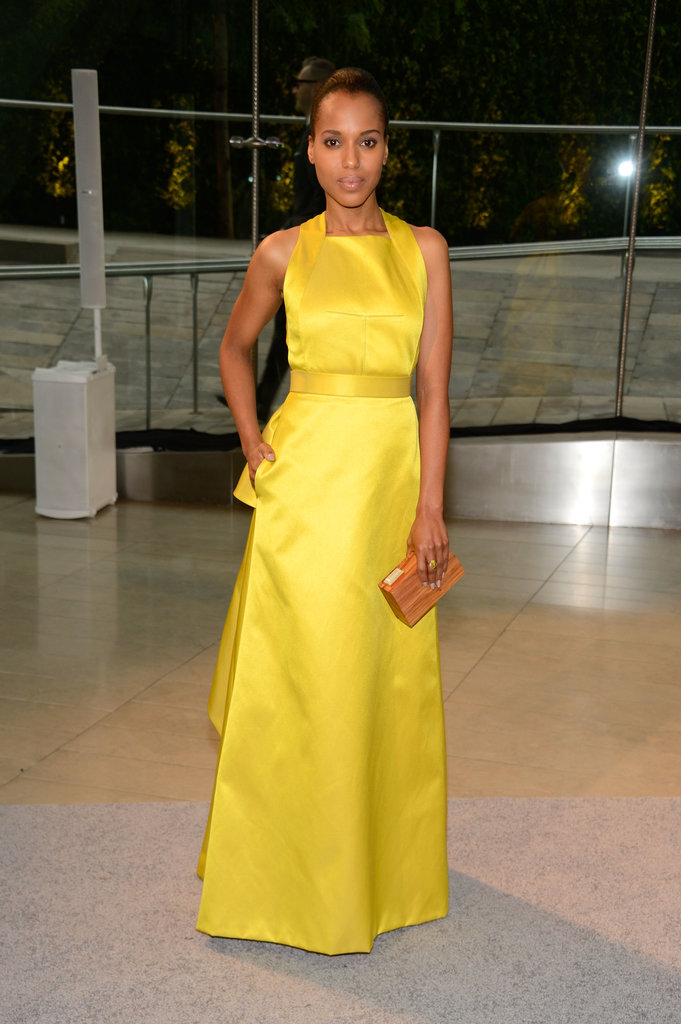 Kerry Washington was a ray of sunshine in a yellow Jason Wu Resort 2014 gown.