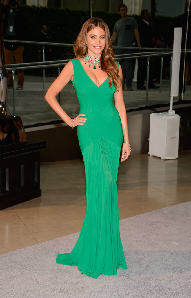 Sofia Vergara wore a gorgeous green gown at the CFDA Fashion Awards.