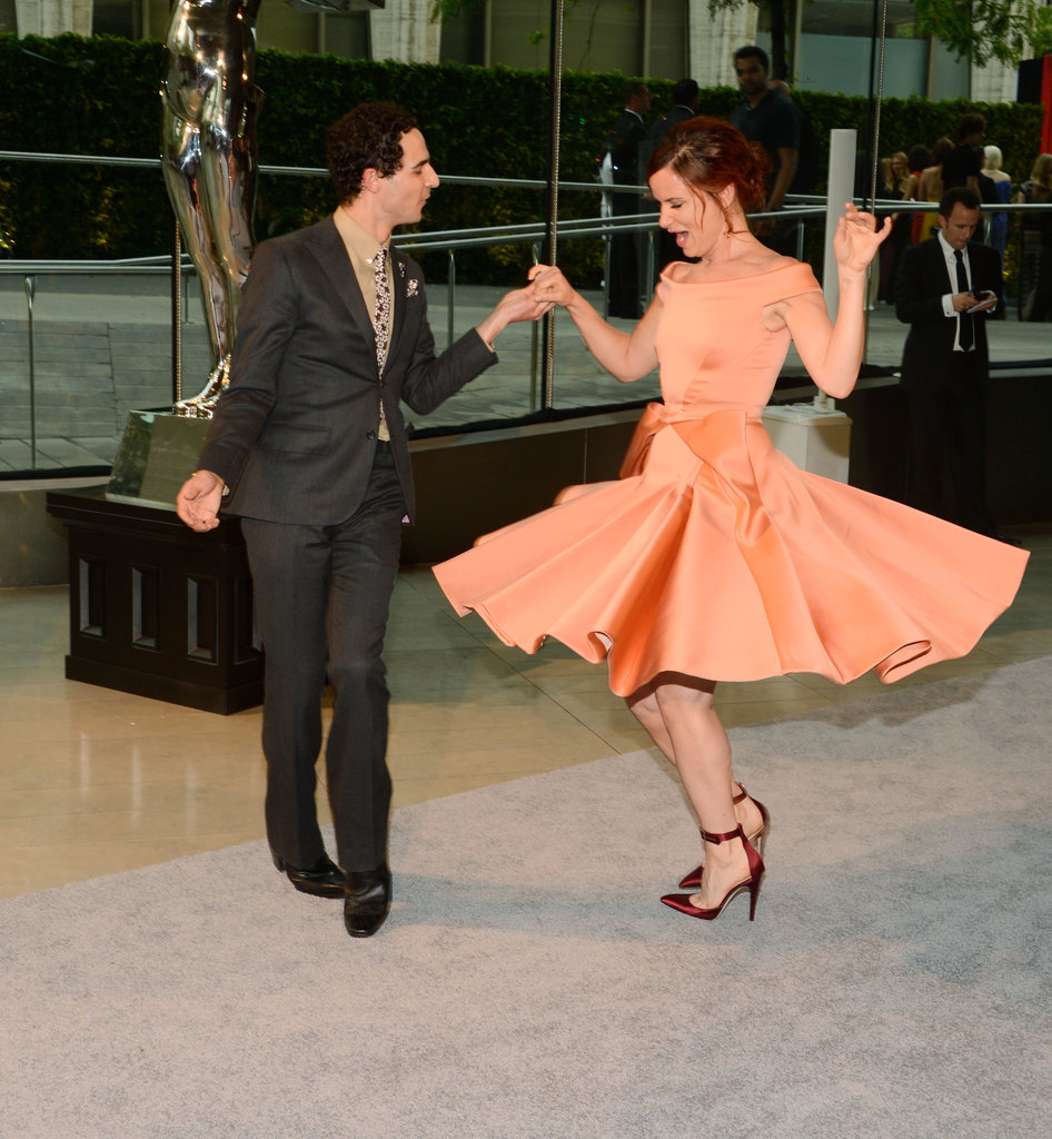 Zac Posen danced with his date, Juliette Lewis.