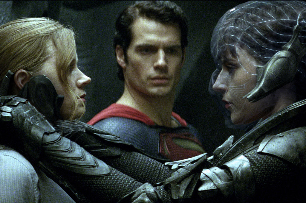 Amy Adams, Henry Cavill, and Antje Traue in Man of Steel.