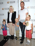 Gwen Stefani and Gavin Rossdale attended the event with their children, Zuma and Kingston, and her niece Stella.