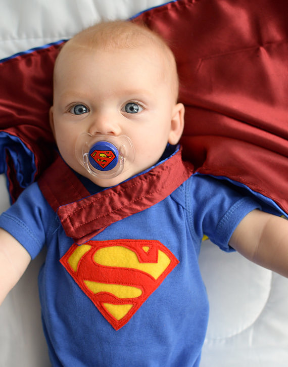 Turn your super baby into a superhero with this superbaby pacifier ($14).