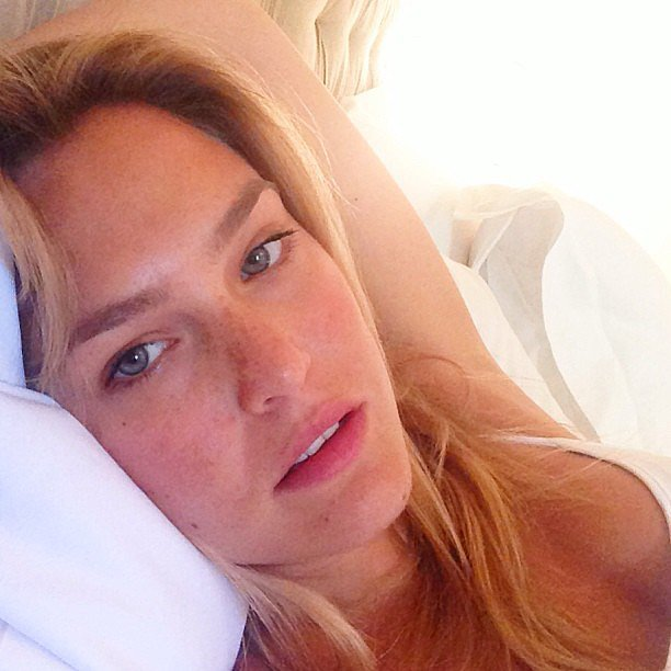 If only our makeup-free facade was as gorgeous as this. Bar was stunning in nothing but her natural freckles and light-hued eyes.  Source: Instagram user barrefaeli