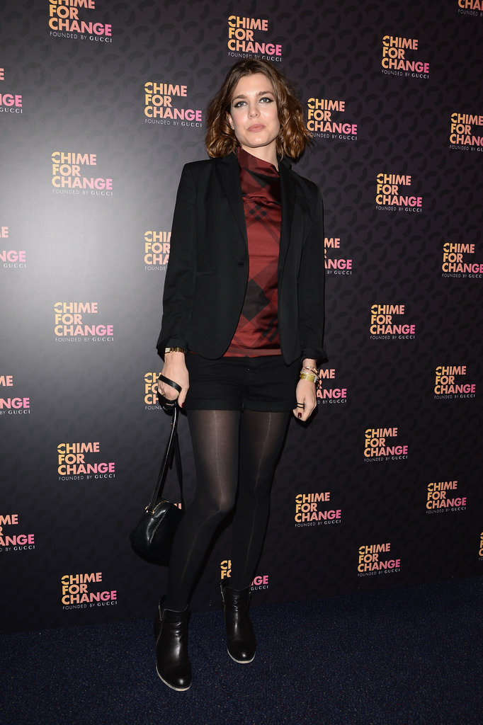 Charlotte Casiraghi, in Gucci Pre-Fall 2013, at the Chime For Change: The Sound of Change Live concert, presented by Gucci, in London.
