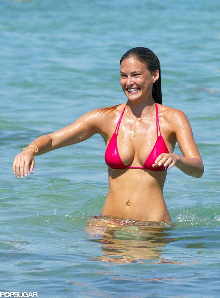 Bar Refaeli chilled at a beach club in St.-Tropez in August 2008.