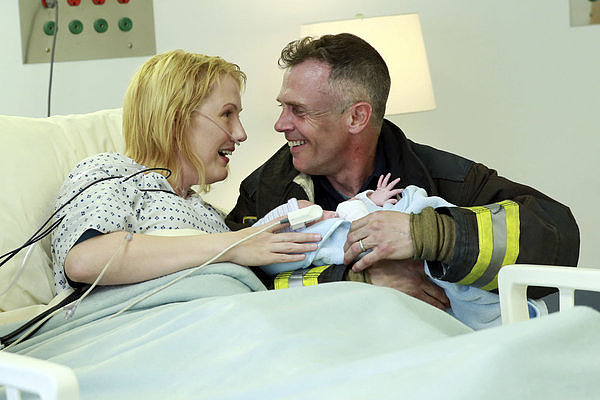 Chicago Fire What happens:  Dawson admits feelings for Casey. Christopher's wife goes into labor and has to have an emergency C-section, but the baby is fine. Shay finds out she's not pregnant but becomes godmother to Christopher's child.  Most shocking moment: Renee shows up and says she's pregnant with Severide's baby.