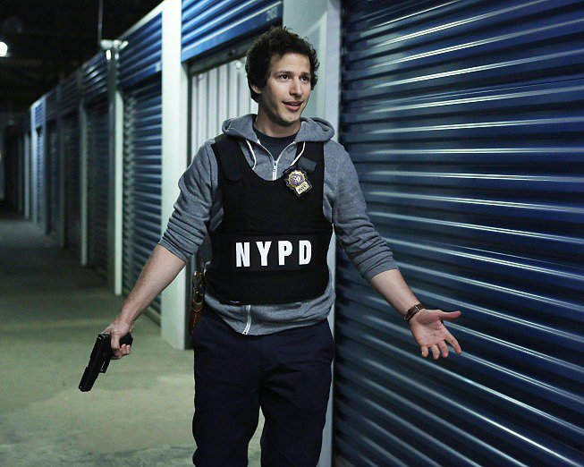 Andy Samberg stars in Brooklyn Nine-Nine.