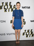 Taissa Farmiga attended the LA premiere of The Bling Ring.