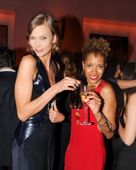 Karlie Kloss and Carly Cushnie at Cushnie et Ochs and Gramercy Park Hotel's afterparty in New York. Photo: Neil RasmusBFAnyc.com