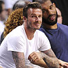 David Beckham and Justin Bieber at Miami Heat Game