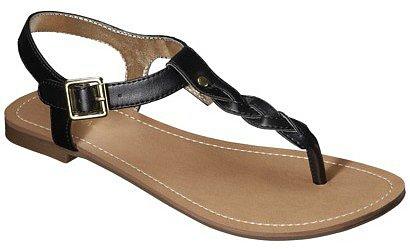 Women's Merona® Erin Braided Upper Sandal - Black