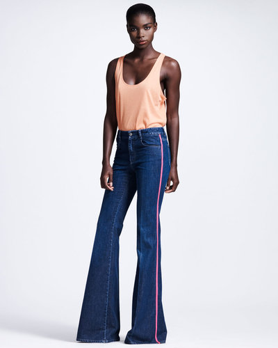 Stella McCartney Neon-Piped Flare Jeans