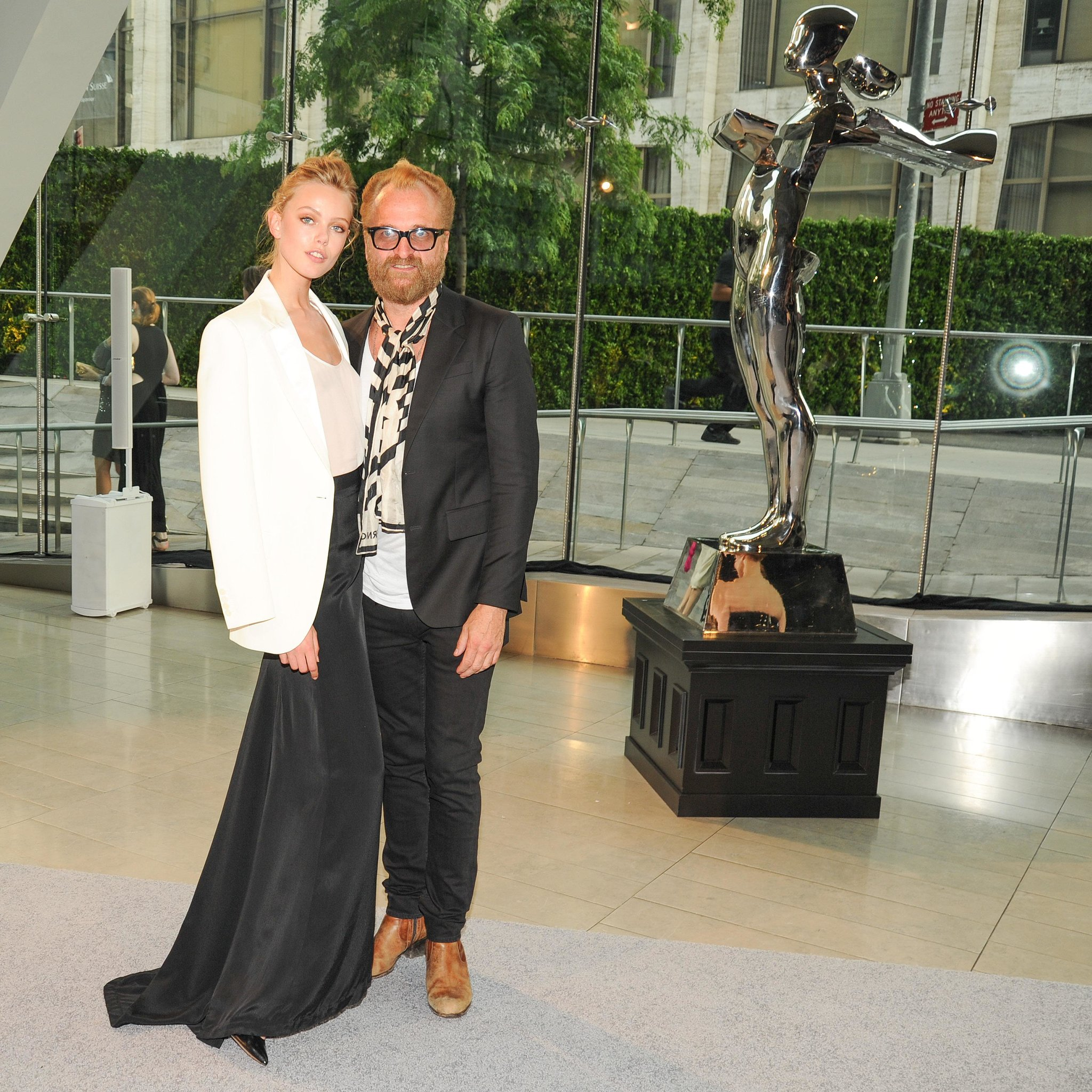 Frida Gustavsson with Johan Lindeberg at the 2013 CFDA Awards. Source: Neil Rasmus/BFAnyc.com