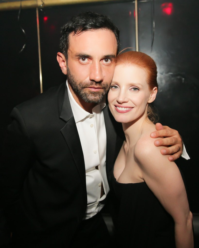Riccardo Tisci and Jessica Chastain (wearing Givenchy) at Riccardo Tisci's International CFDA Award Celebration in New York. Photo: David X PruttingBFAnyc.com