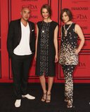 Tilda Lindstam with Suno designers Max Osterweis and Erin Beatty at the 2013 CFDA Awards. Source: Matteo Prandoni/BFAnyc.com