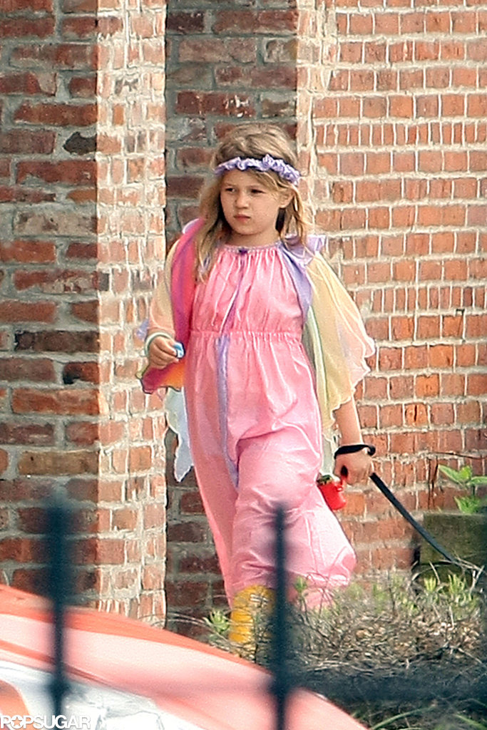 Matilda Ledger wore a princess outfit.