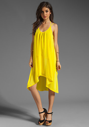 To stand out — like way out — all you have to do is slip into this Plenty by Tracy Reese yellow tank dress ($198).