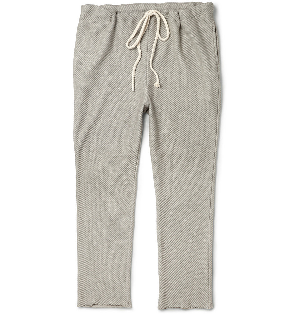 Fighting an epic battle to get him out of sweatpants and into something a bit more stylish? Meet your man halfway with The Elder Statesman's cashmere-blend option ($400).