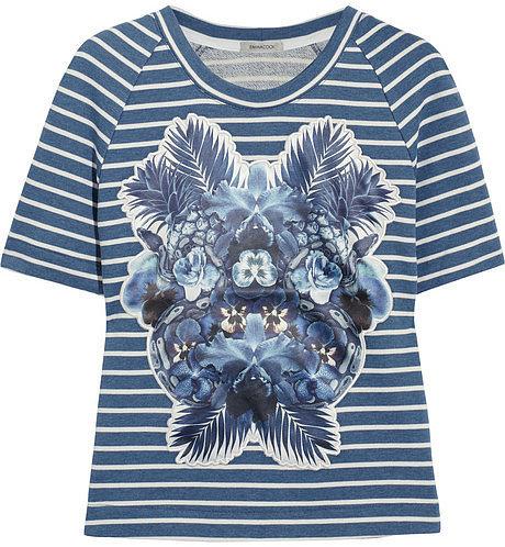 Emma Cook Appliquéd cotton-jersey T-shirt