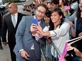Seth Rogen stopped for a snap with fans during the LA premiere of This Is the End in June 2013.