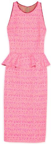 Giambattista Valli Bright Pink Peplum Dress