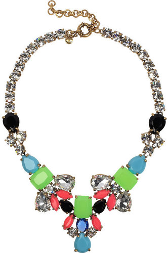 J.Crew Color Collage crystal necklace
