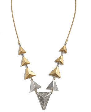 Metal fan necklace