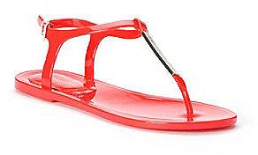 "Calvin Klein ""Jamila"" Jelly Thong Sandal"