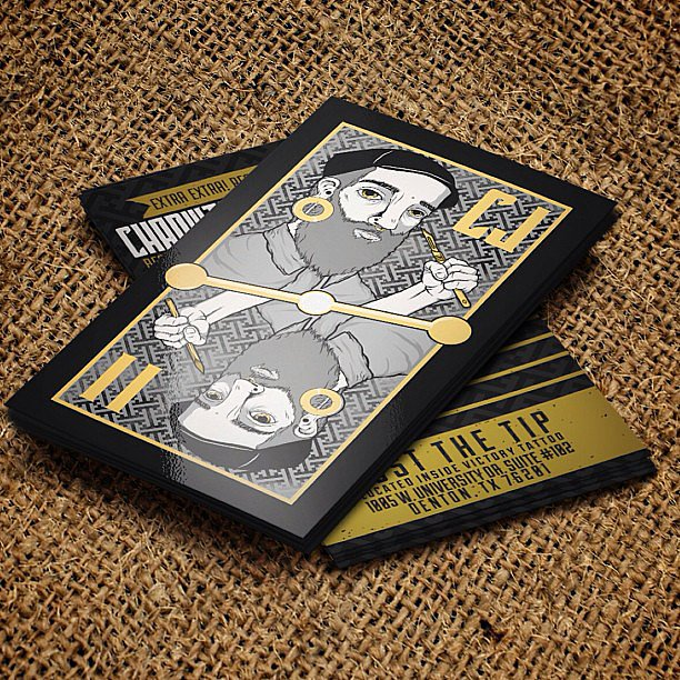 Business cards that look like playing cards? How fun!   Source: Instagram user danielmackeyy