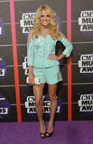 Carrie Underwood arrived at the CMT Awards.