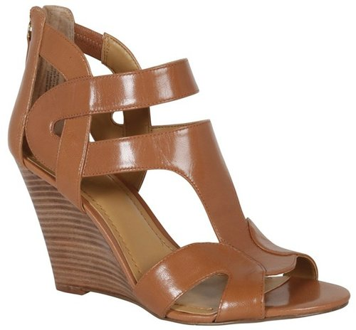Merle Leather Wedge in Carmello