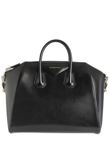 Large Antigona Shiny Smooth Leather Bag