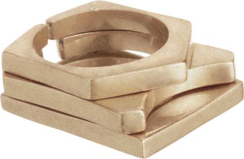 Jennifer Fisher Brass Geometric Stack Rings