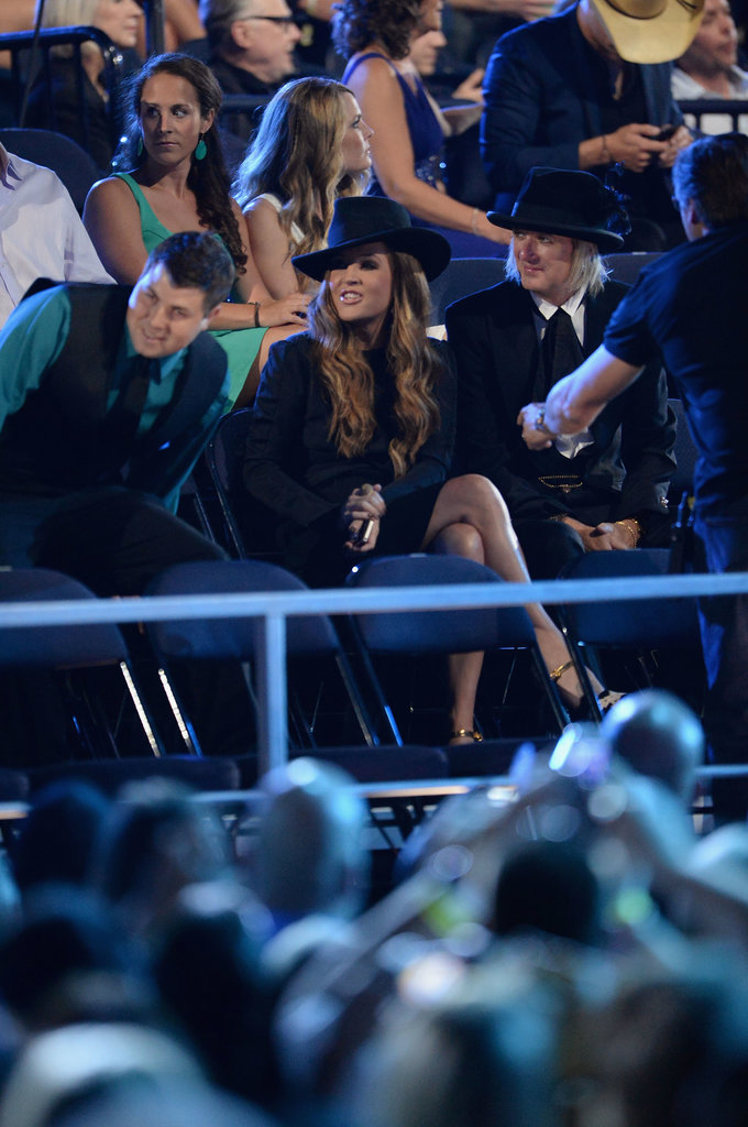 Lisa Marie Presley sat in the audience.