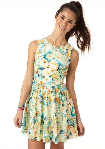 Floral Pocket Front Dress