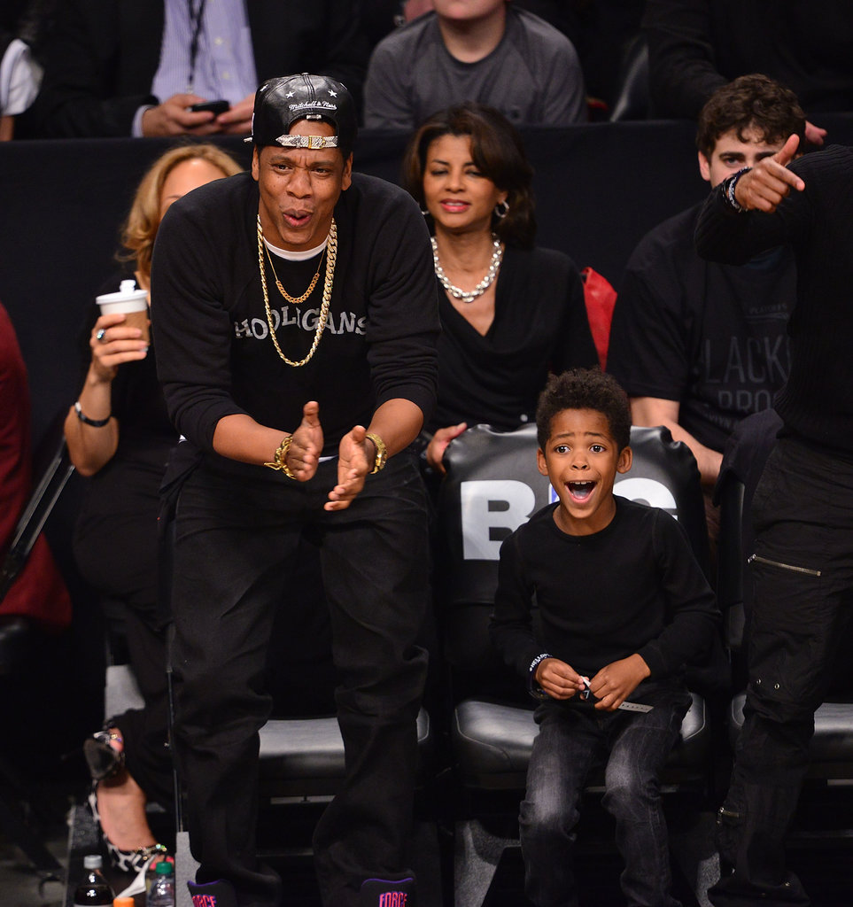 Jay Z shared an adorable moment with his godson at a Brooklyn Nets game in April — their mutual excitement made for one sweet photo!