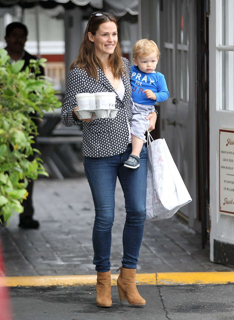 Jennifer Garner brought her son, Samuel Affleck, to get coffee in LA.