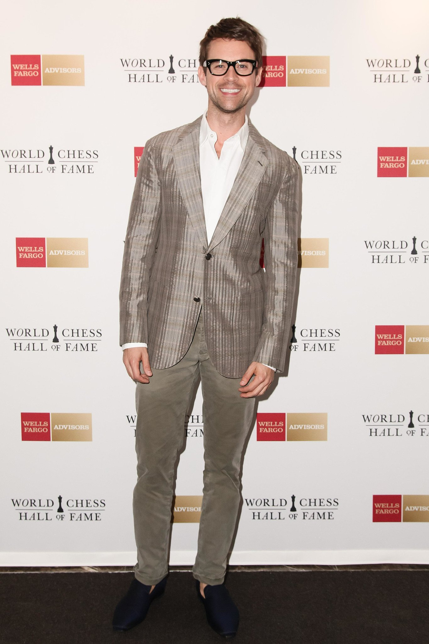 "Brad Goreski at the World Chess Hall of Fames's ""A Queen Within: Adorned Archetypes, Fashion and Chess"" exhibit preview in NYC. Source: Benjamin Lozovsky/BFAnyc.com"
