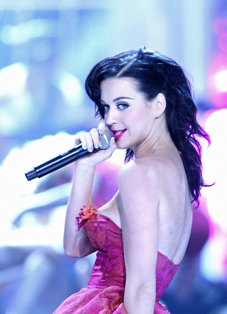 Katy Perry performed at the Guys Choice Awards in 2008.