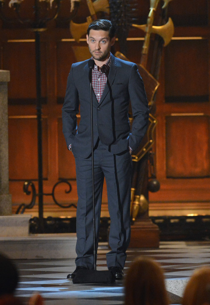 In 2012, Tobey Maguire suited up for the award show.